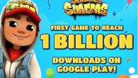 Det dansk udviklede mobilspil, Subway Surfers, er det første mobilspil i historien, der runder 1 milliard downloads i Google Play.