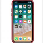 iPhone X product red læder etui