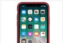 iPhone X product red læder etui