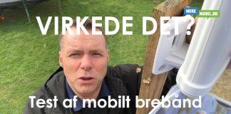 Status på test af mobilt bredbånd