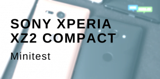 Sony Xperia XZ2 Compact minitest