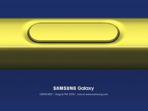Invitation til Galaxy Note 9 event