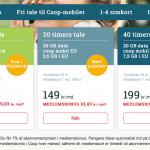 Coop Mobil priser pr. 14. juni 2018 (Kilde: MereMobil.dk)