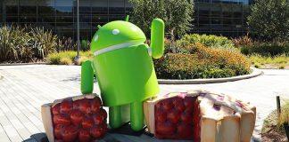 Android 9 Pie statuen udenfor Googles hovedkvarter GooglePlex