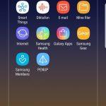 Skærmbillede fra Galaxy Note 9