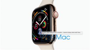 Apple Watch Series 4 lækket på 9to5mac.com (Kilde: 9to5mac.com)