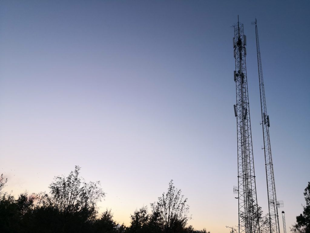 Mobilmaster ved solnedgang (Foto: MereMobil.dk)