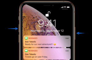 iPhone Xs screenshot guide