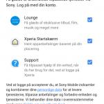 Skærmbillede fra Xperia XZ3