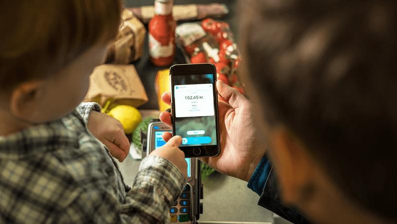 Billede, der viser en betaling med MobilePay i Meny (Foto: MobilePay)