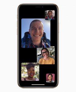 Billeder af nogle af nyhederne i iOS 12.1 - nye emojis og gruppesamtaler i Facetime (Foto: Apple)