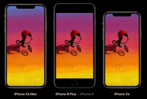 iPhone Xs sammenligning