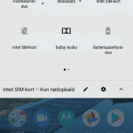 Skærmbillede fra Motorola One