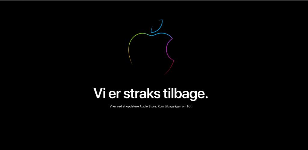 Apple Store er lukket forud for iPad-event i oktober 2018 (Foto: MereMobil.dk)