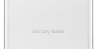hvid Samsung Galaxy Note 9