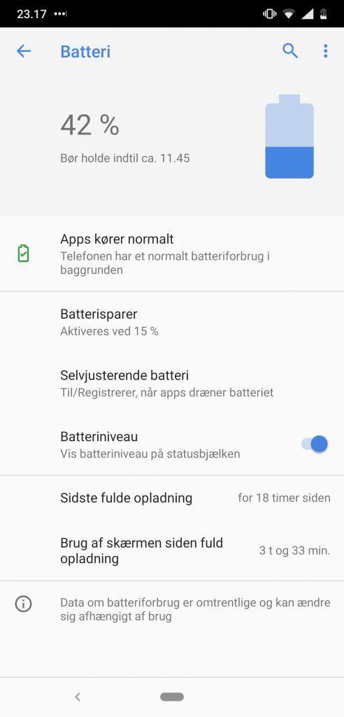 Skærmbillede, Nokia 8.1