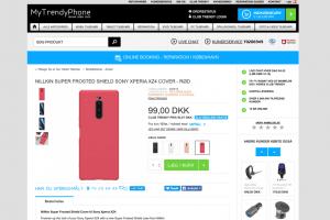 Mytrendyphone.dk klar med tilbehør til Sony Xperia XZ4 (Foto: MereMobil.dk)