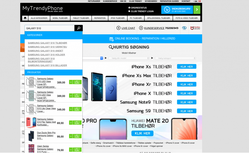 Mytrendyphone.dk er klar med tilbehør til Samsung Galaxy S10 (Foto: MereMobil.dk)
