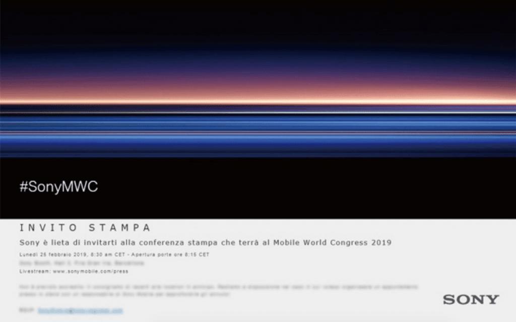 Invitationerne er sendt ud til Sonys presseevent i forbindelse med Mobile World Congress 2019 (Kilde: GSMArena.com)