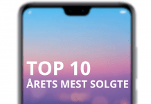Top 10 mest solgte 2018