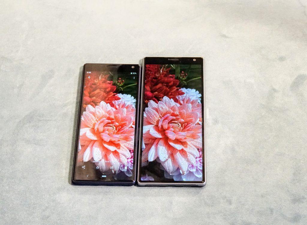 Sony Xperia 1 og Sony Xperia 10