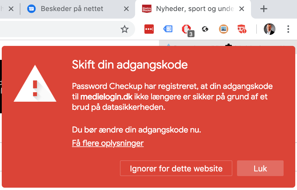Google Password tjek