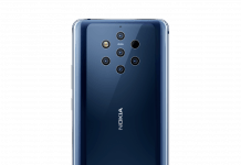 Nokia 9 PureView pentakamera