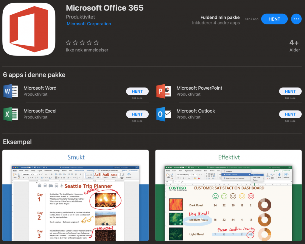 Office 365 Mac App Store