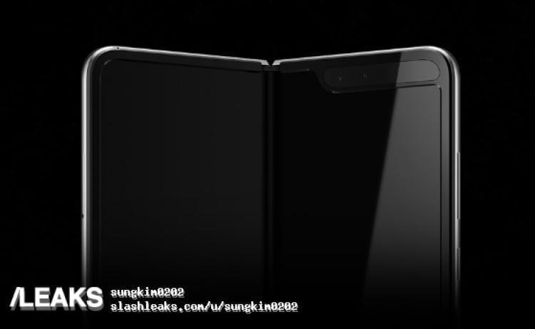 Samsung Galaxy Fold afsløret af Slashleaks (Kilde: Slashleaks)