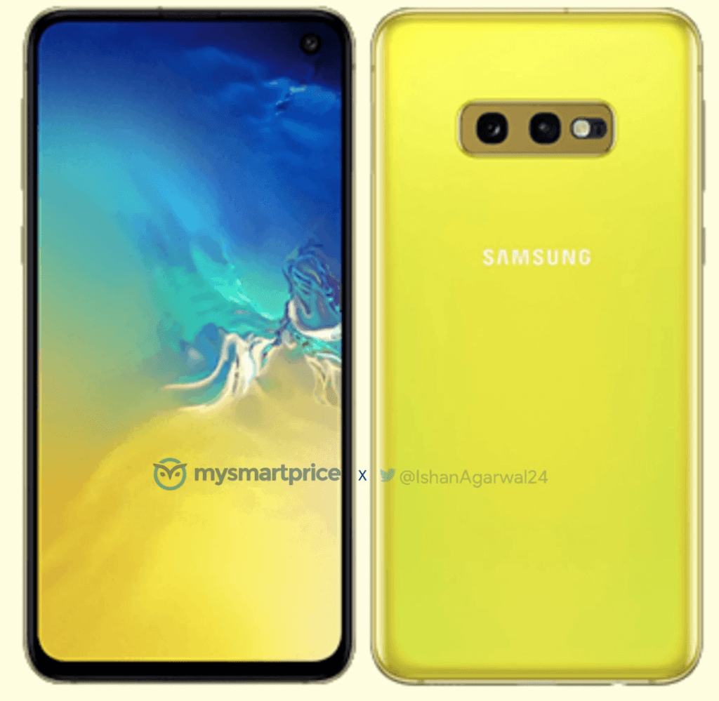 Samsung Galaxy S10e, Canary Yellow