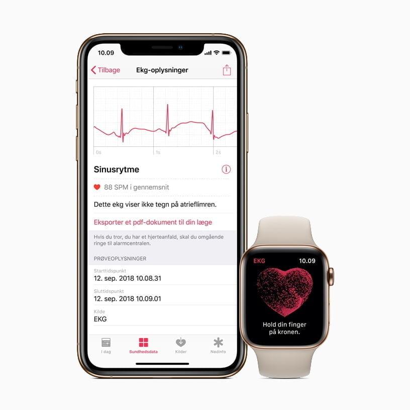 EKG på Apple Watch Sundhed