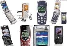 Retro mobiler fra 00'erne