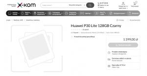 Huawei P30 Lite afsløret hos den polske online forhandler X-kom (Kilde: GSMArena.com)