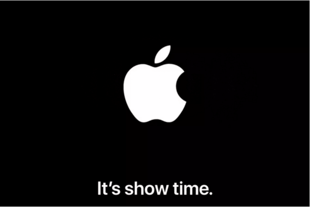 "Apple ""It's show time"" - event mandag den 25. marts 2019 (Kilde: The Verge)"