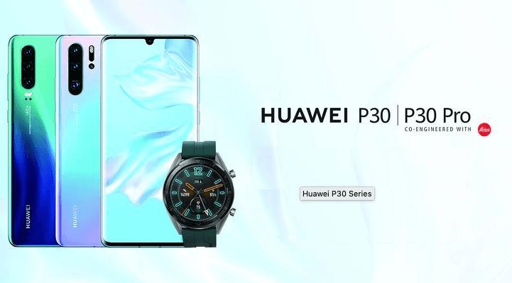 Lækkede billeder af Huawei P30/P30 Pro (marketing materiale) (KIlde: Mysmartprice.com)