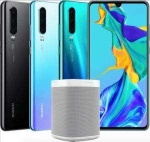 Sonos One ser ud til, at medfølge Huawei P30, hvis den forudbestilles (Kilde: GSMArena.com)