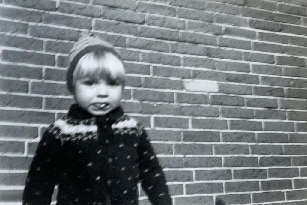 Et gammelt billede der er gjort digitalt med smartphone-kameraet