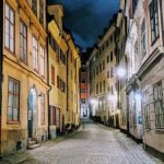 Taget med en Google Pixel 2 XL med Nightsight. Gamla Stan, Stockholm (Foto: Tobias Kofoed Jørgensen)