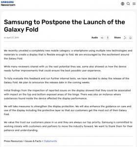 Statement Galaxy Fold