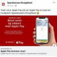 Sparekassen Kronjylland klar med Apple Pay