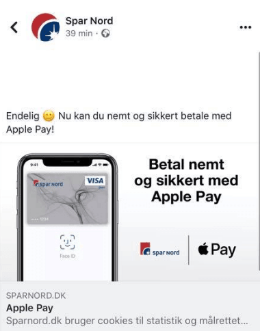 Spar Nord klar med Apple Pay