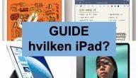 Med de mange iPads at vælge imellem, kan det efterhånden være svært at finde den rigtige. Vi forsøger at guide dig, og finde den rigtige til netop dit behov.