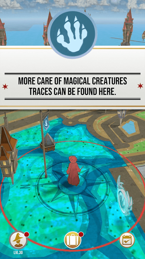 Sreenshot fra Harry Potter: Wizards Unite spillet (Kilde: Google Play Store)