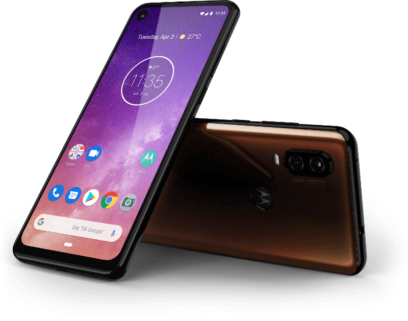 Motorola One Vision, bronze gradient