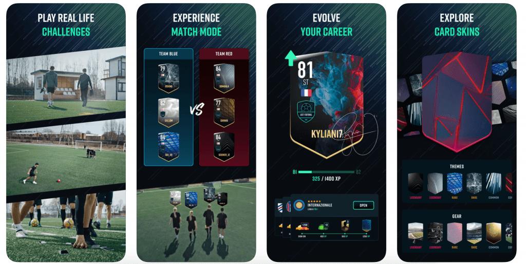 Just Football applikation (Kilde: Screenshots fra App Store)