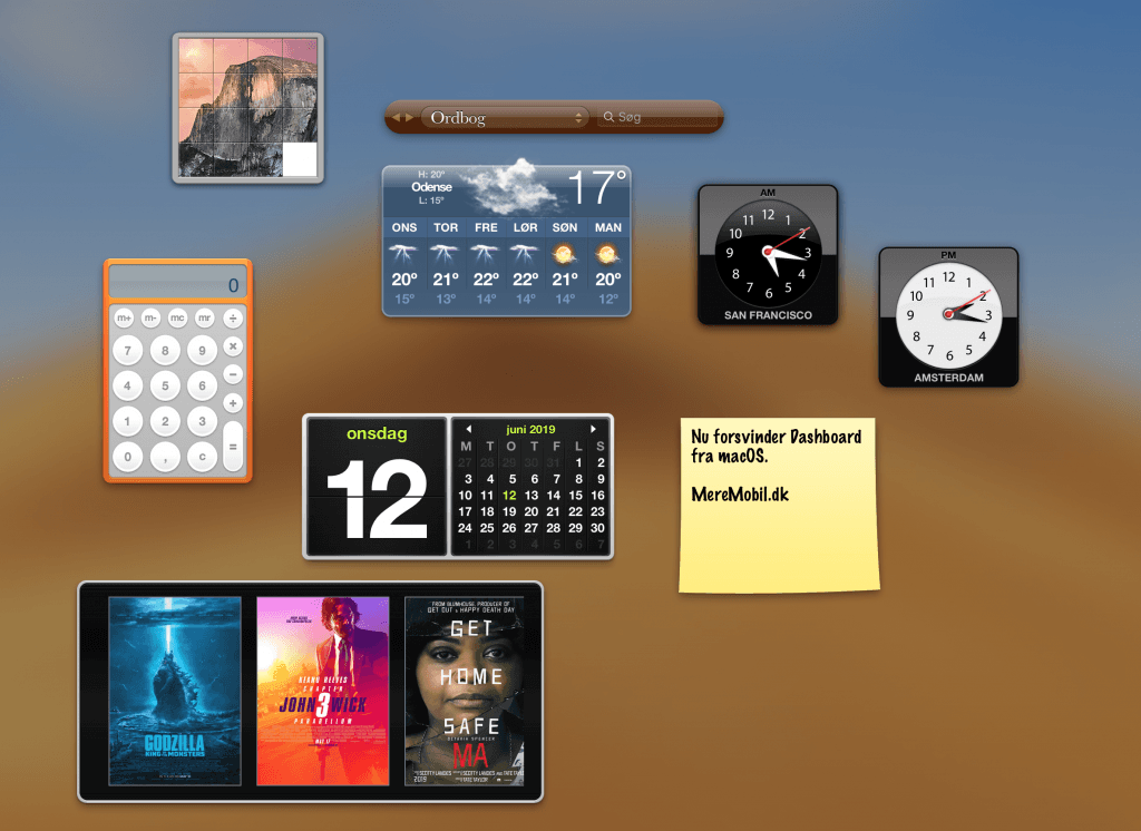Dashboard Mac