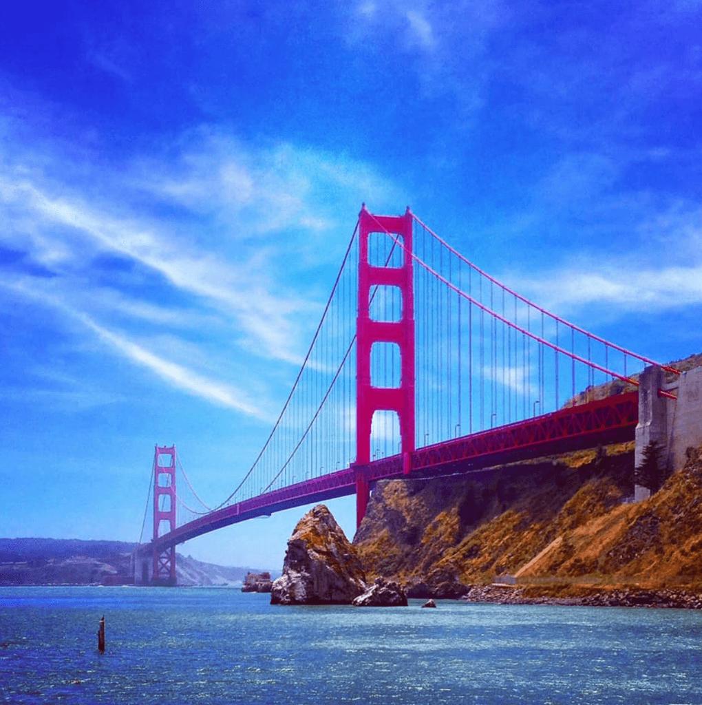 Billede taget i 2014 af Golden Gate Bridge (San Francisco) med en iPhone 4S tilføjet et Instagram filter. (Foto: Kristoffer Rohde)