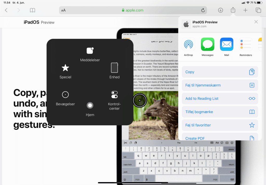 Mus på iPad med iPadOS