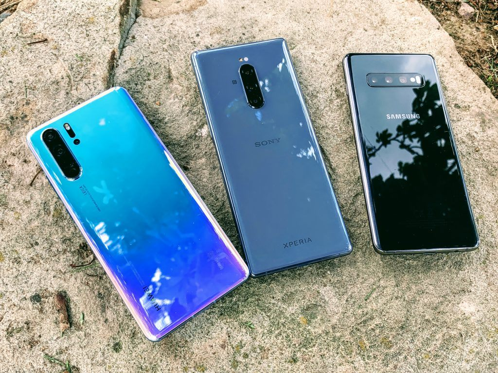Huawei P30 Pro, Sony Xperia 1, Samsung Galaxy S10+