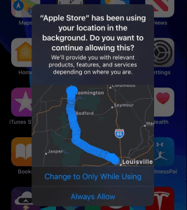 ios 13 lokation apple store